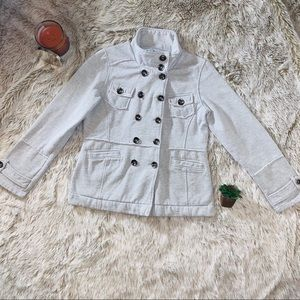 Maurices Gray Fleece Buttoned Jacket